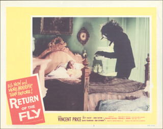 RETURN OF THE FLY MOVIE CAST - LOBBY CARD UNSIGNED (USA) 1959