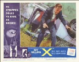 MAN WITH THE X-RAY EYES MOVIE CAST - LOBBY CARD UNSIGNED (USA) 1963