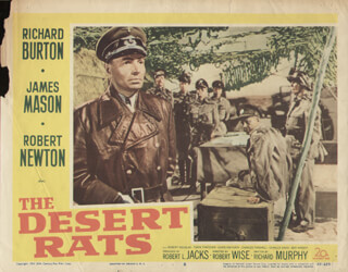 DESERT RATS MOVIE CAST - LOBBY CARD UNSIGNED (USA) 1953