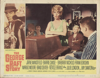 GEORGE RAFT STORY MOVIE CAST - LOBBY CARD UNSIGNED (USA) 1961