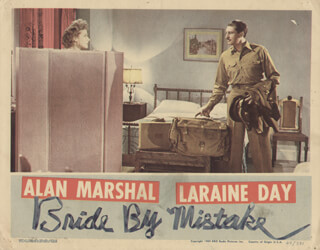 BRIDE BY MISTAKE MOVIE CAST - LOBBY CARD UNSIGNED (USA) 1944