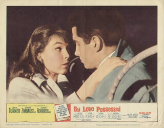 BY LOVE POSSESSED MOVIE CAST - LOBBY CARD UNSIGNED (USA) 1961