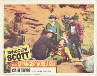 STRANGER WORE A GUN MOVIE CAST - LOBBY CARD UNSIGNED (USA) 1961