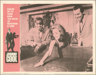 JOHNNY COOL MOVIE CAST - LOBBY CARD UNSIGNED (USA) 1963