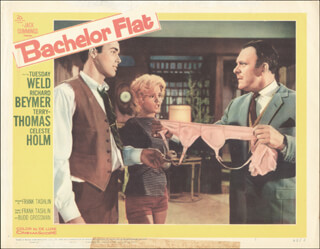 BACHELOR FLAT MOVIE CAST - LOBBY CARD UNSIGNED (USA) 1962