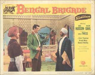 BENGAL BRIGADE MOVIE CAST - LOBBY CARD UNSIGNED (USA) 1954