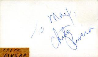 CHITA RIVERA - INSCRIBED SIGNATURE
