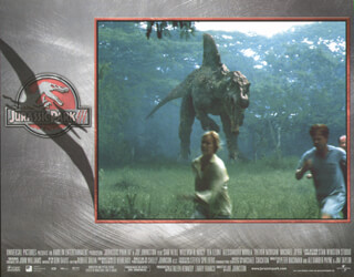 JURASSIC PARK III MOVIE CAST - LOBBY CARD UNSIGNED (USA) 2001