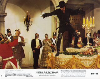ZORRO: THE GAY BLADE MOVIE CAST - LOBBY CARD UNSIGNED (USA)