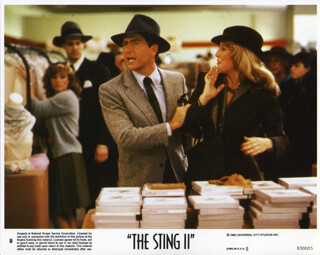 THE STING II MOVIE CAST - LOBBY CARD UNSIGNED (USA)