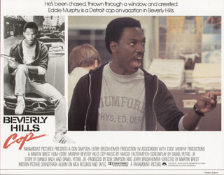 BEVERLY HILLS COP MOVIE CAST - LOBBY CARD UNSIGNED (USA) 1984