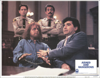 ARMED AND DANGEROUS MOVIE CAST - LOBBY CARD UNSIGNED (USA) 1986