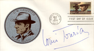 LOUIS JOURDAN - FIRST DAY COVER SIGNED