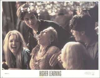 HIGHER LEARNING MOVIE CAST - LOBBY CARD UNSIGNED (USA) 1995
