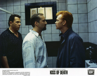 KISS OF DEATH MOVIE CAST - LOBBY CARD UNSIGNED (USA)