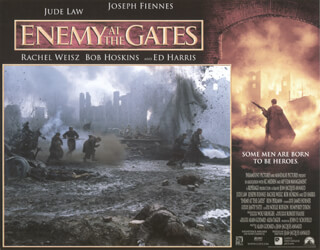 ENEMY AT THE GATES MOVIE CAST - LOBBY CARD UNSIGNED (USA) 2000