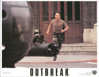 OUTBREAK MOVIE CAST - LOBBY CARD UNSIGNED (USA) 1995