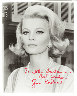 GENA ROWLANDS - AUTOGRAPHED INSCRIBED PHOTOGRAPH