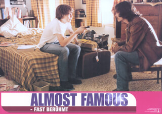 Autographs: ALMOST FAMOUS MOVIE CAST - LOBBY CARD UNSIGNED (GER) 2000