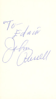 JOHN RUSSELL - INSCRIBED SIGNATURE