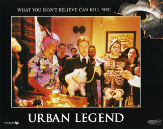 URBAN LEGEND MOVIE CAST - LOBBY CARD UNSIGNED (USA) 1998