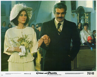 CRIME AND PASSION MOVIE CAST - LOBBY CARD UNSIGNED (USA) 1976
