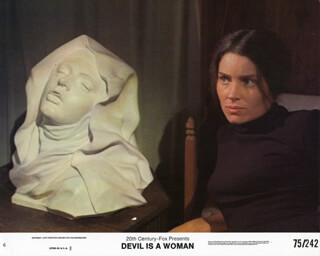 THE DEVIL IS A WOMAN MOVIE CAST - LOBBY CARD UNSIGNED (USA)