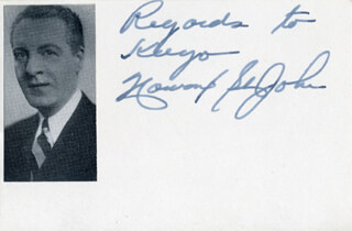HOWARD ST. JOHN - AUTOGRAPH NOTE SIGNED