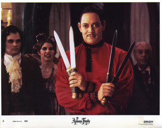 THE ADDAMS FAMILY MOVIE CAST - LOBBY CARD UNSIGNED (USA) 1991