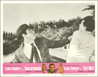 DR. NO MOVIE CAST - LOBBY CARD UNSIGNED (USA) 1966