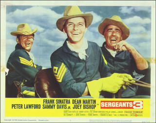 SERGEANTS 3 MOVIE CAST - LOBBY CARD UNSIGNED (USA) 1962