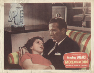 KNOCK ON ANY DOOR MOVIE CAST - LOBBY CARD UNSIGNED (USA) 1949