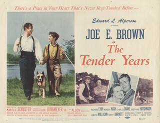 TENDER YEARS MOVIE CAST - LOBBY CARD UNSIGNED (USA) 1948