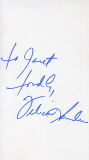 FELICIA SANDERS - AUTOGRAPH NOTE SIGNED