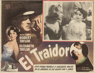CONSPIRATOR MOVIE CAST - LOBBY CARD UNSIGNED (MEX) 1949