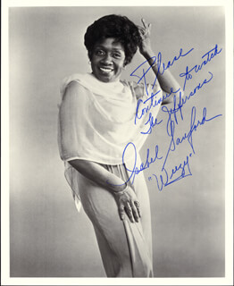 ISABEL WEEZY SANFORD - AUTOGRAPHED SIGNED PHOTOGRAPH