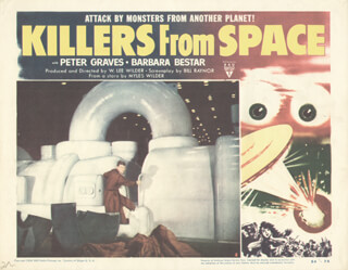 KILLERS FROM SPACE MOVIE CAST - LOBBY CARD UNSIGNED (USA) 1954