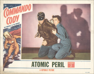 COMMANDO CODY MOVIE CAST - LOBBY CARD UNSIGNED (USA) 1953