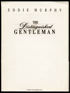 THE DISTINGUISHED GENTLEMAN MOVIE CAST - PRESS KIT UNSIGNED