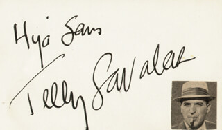 TELLY SAVALAS - INSCRIBED SIGNATURE