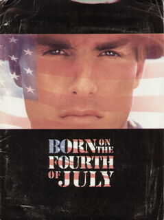 BORN ON THE FOURTH OF JULY MOVIE CAST - PRESS KIT UNSIGNED 1989