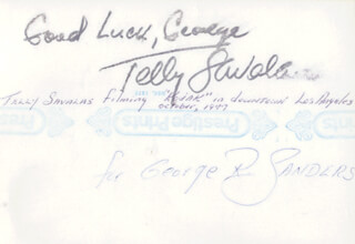 TELLY SAVALAS - AUTOGRAPHED INSCRIBED PHOTOGRAPH CIRCA 1977