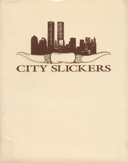 CITY SLICKERS MOVIE CAST - PRESS KIT UNSIGNED 1991