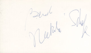 NATALIE SCHAFER - INSCRIBED SIGNATURE