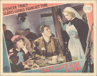 THEY GAVE HIM A GUN MOVIE CAST - LOBBY CARD UNSIGNED (USA) 1937