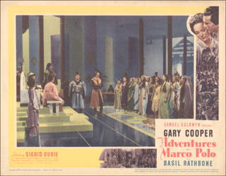 ADVENTURES OF MARCO POLO MOVIE CAST - LOBBY CARD UNSIGNED (USA) 1938  - HFSID 260128