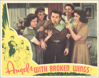 Autographs: ANGELS WITH BROKEN WINGS MOVIE CAST - LOBBY CARD UNSIGNED (USA) 1941