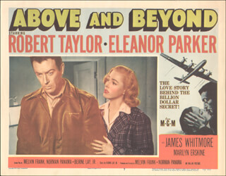 Autographs: ABOVE AND BEYOND MOVIE CAST - LOBBY CARD UNSIGNED (USA) 1952