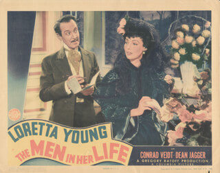 THE MEN IN HER LIFE MOVIE CAST - LOBBY CARD UNSIGNED (USA)