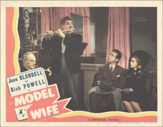 MODEL WIFE MOVIE CAST - LOBBY CARD UNSIGNED (USA)